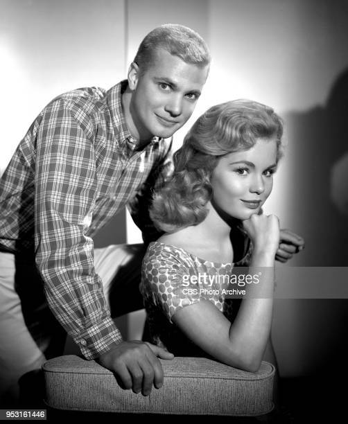 Portrait of Dwayne Hickman and Tuesday Weld They perform on the CBS television comedy series The Many Loves of Dobie Gillis June 19 1959 Los Angeles...