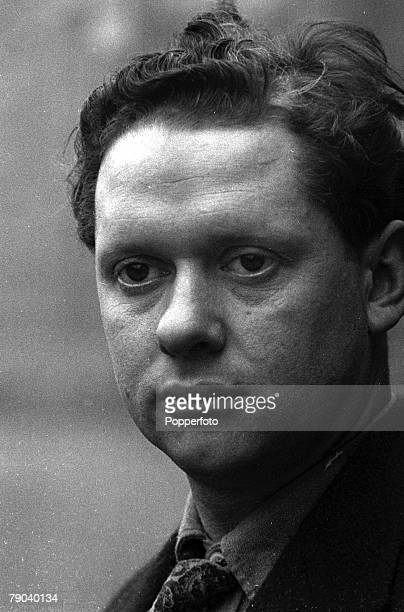 Portrait of Dylan Thomas Welsh author and poet