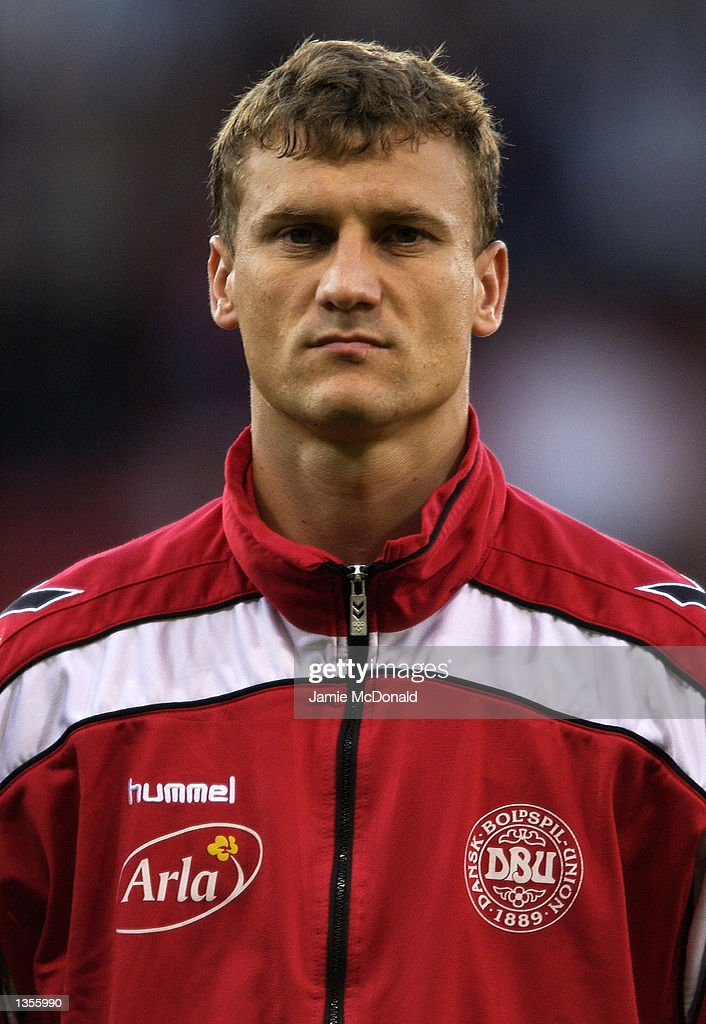 Portrait of Ebbe Sand of Denmark before the International Friendly between Scotland and Denmark at Hampden Park in Glasgow, Scotland on August 21, 2002.