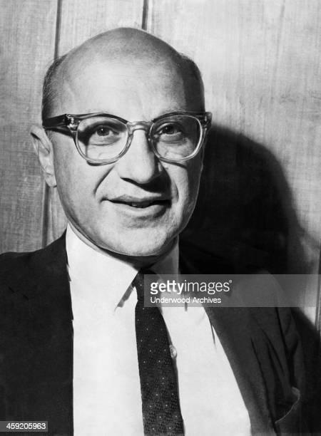 Portrait of economist Milton Friedman, San Francisco, California, February 10, 1967.