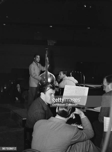 Portrait of Eddy Duchin Wesley Prince Nat King Cole and Oscar Moore New York NY ca July 1946
