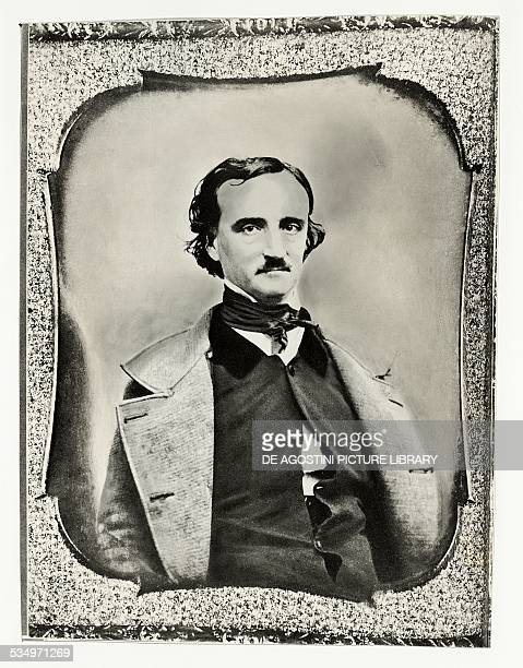 Portrait of Edgar Allan Poe writer and poet photograph by SW Hartshorn from 1848 United States of America 19th century