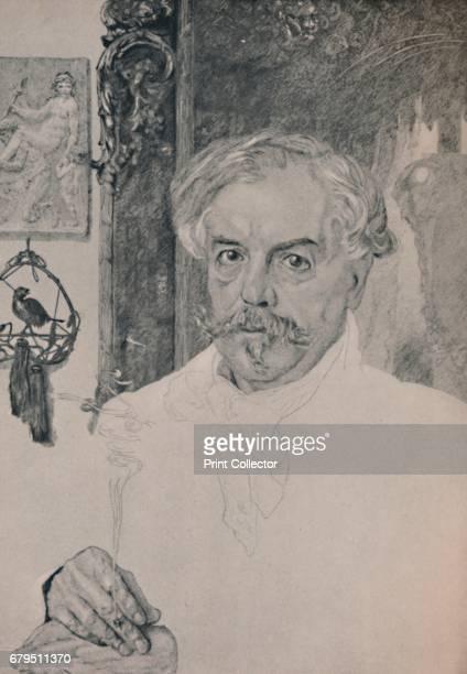 Portrait of Edmund De Goncourt' Portrait of Edmond de Goncourt French writer literary critic art critic book publisher and the founder of the...