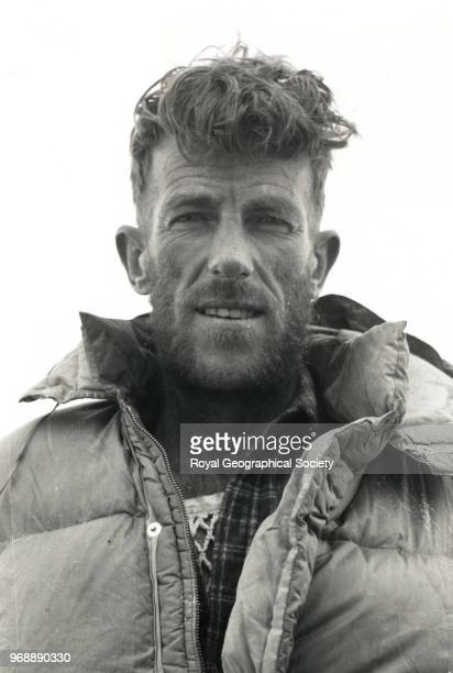 Portrait of Edmund Hillary Nepal March 1953 Mount Everest Expedition 1953