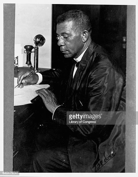 A portrait of educatorauthor and civil rights activist Booker T Washington