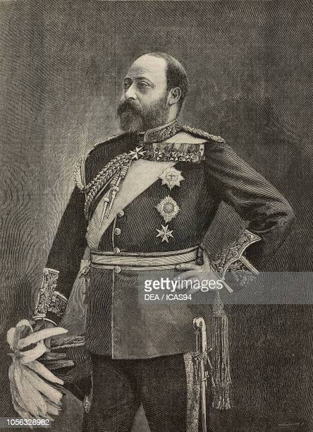 Portrait of Edward VII as Prince of Wales engraving from The Illustrated London News No 2742 November 7 1891