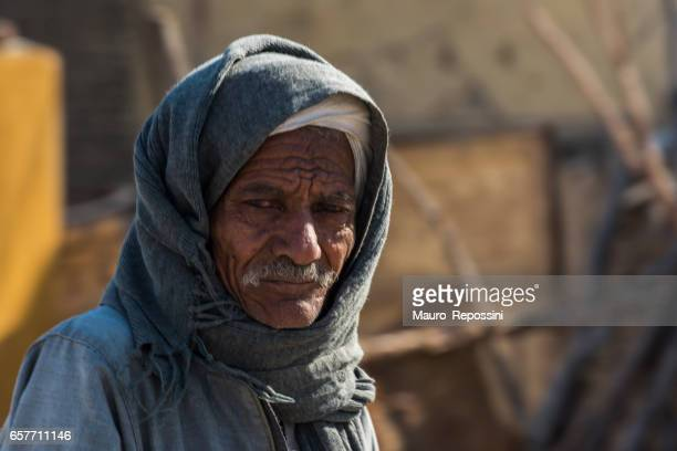 Portrait of Egyptian man at Luxor streets, Egypt.