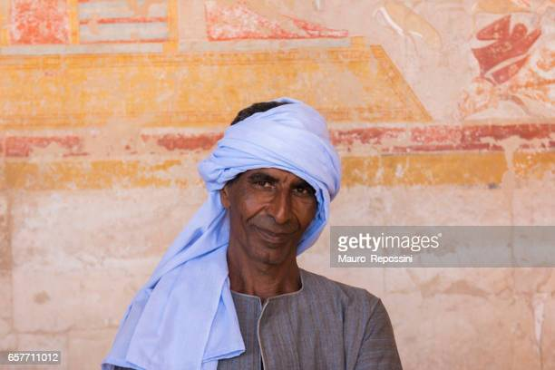 Portrait of Egyptian man at Luxor Temple, Luxor, Egypt.