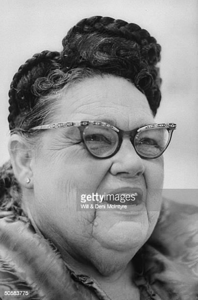 Portrait of elderly female supporter of Jim and Tammy Faye Bakker