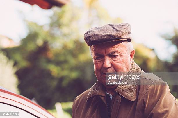 Portrait of Elderly Man Outdoors, Europe