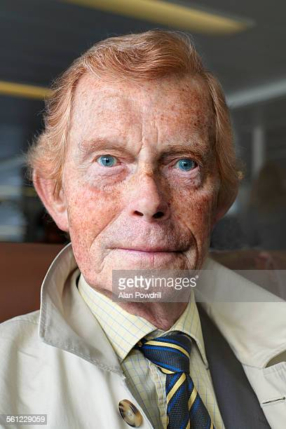 portrait of elderly red haired man with freckles - older redhead stock pictures, royalty-free photos & images