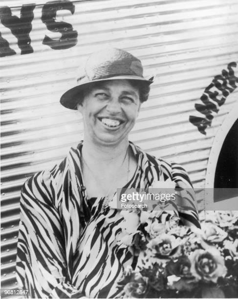 Portrait of Eleanor Roosevelt smiling in Dallas Texas USA June 5 1933