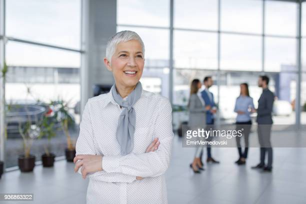 Portrait of elegant senior businesswoman