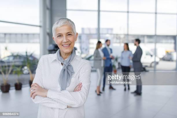 Portrait of elegant senior businesswoman