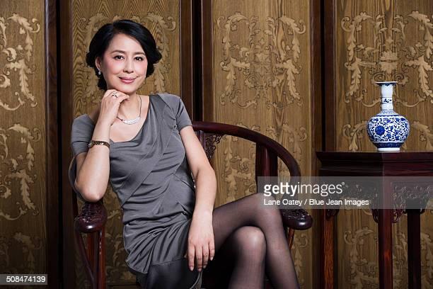 Portrait of elegant woman