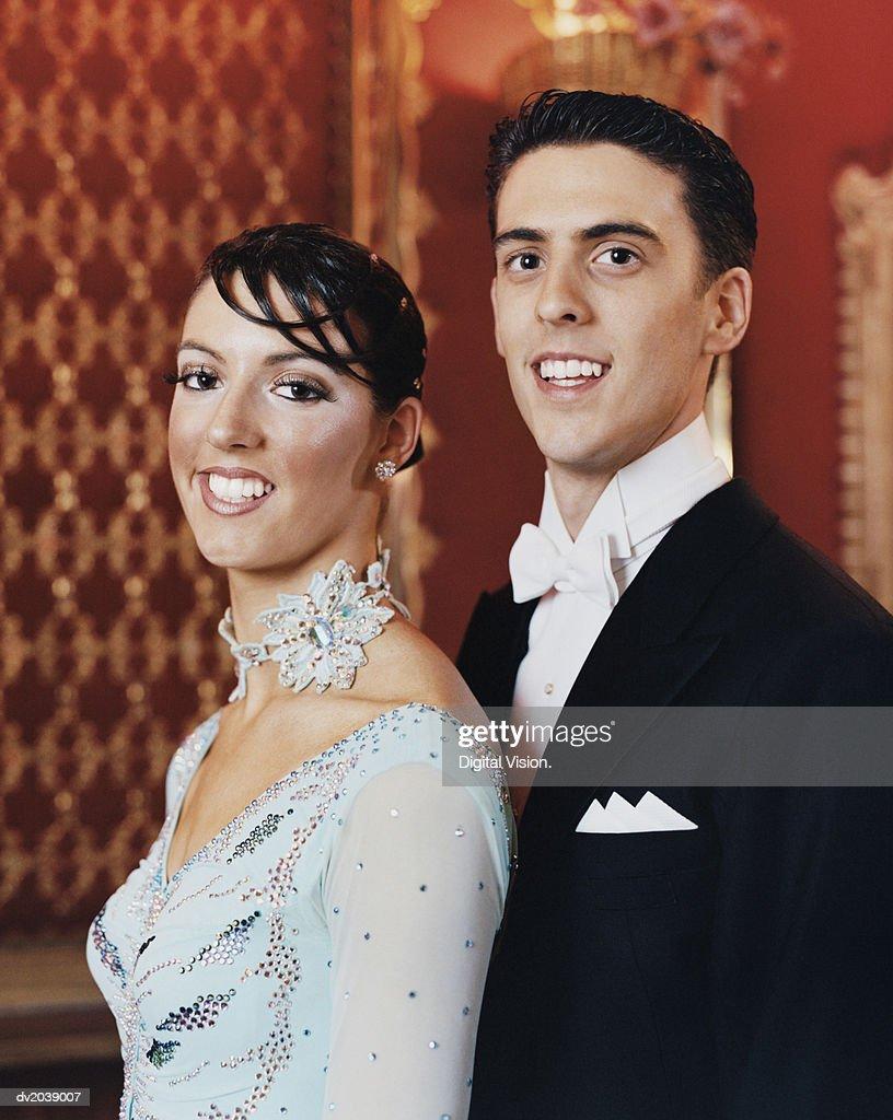 Portrait of Elegantly Dressed Ballroom Dancers : Stock Photo