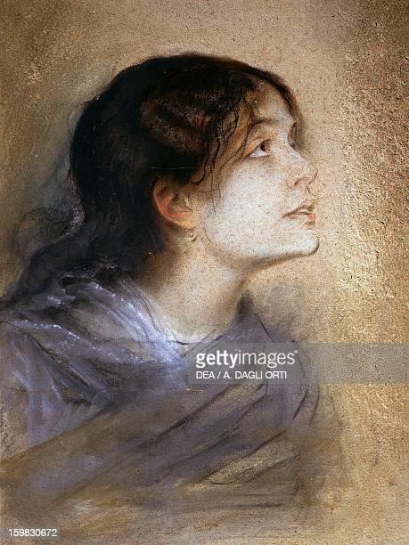 Portrait of Eleonora Duse Italian actress Painting by Franz von Lembach pastel on cardboard 68x47 cm Brescia Pinacoteca TosioMartinengo