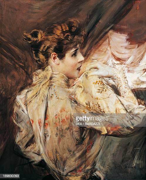 Portrait of Eleonora Duse Italian actress Painting by Giovanni Boldini