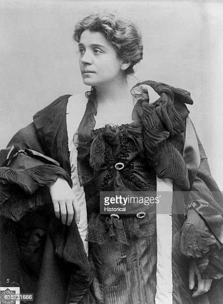 Portrait of Eleonora Duse Italian stage actress who toured the world