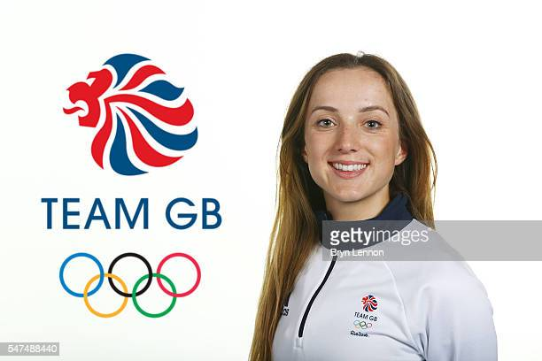 A portrait of Elinor Barker a member of the Great Britain Olympic Cycling team during the Team GB Kitting Out ahead of Rio 2016 Olympic Games on July...
