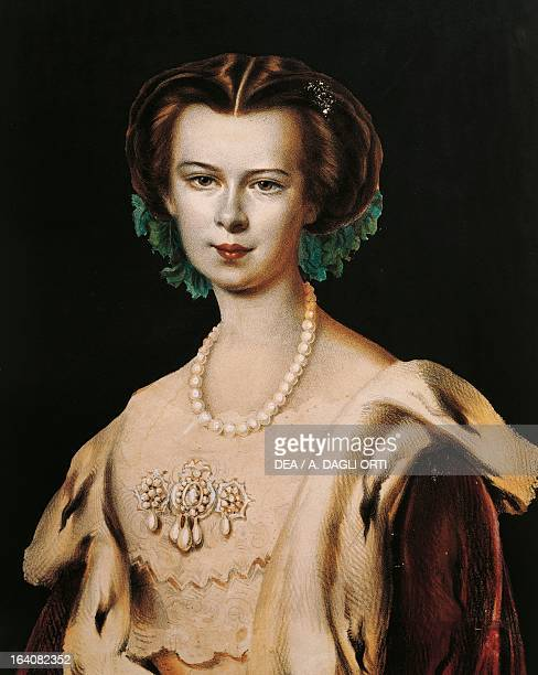 Portrait of Elisabeth of Austria Empress of Austria at the time of her marriage to Emperor Franz Joseph of Austria Rovereto Castello Museo Storico...