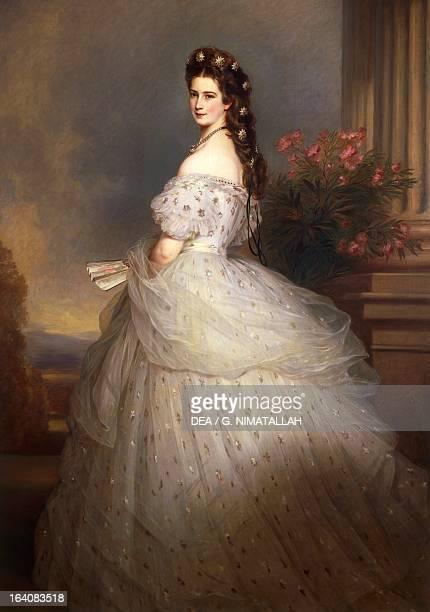 Portrait of Elisabeth of Austria , Empress of Austria. Painting by Franz Xaver Winterhalter . Vienna, Kunsthistorisches Museum