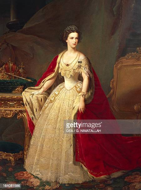 Portrait of Elisabeth of Austria Empress of Austria Painting by Giuseppe Sogni Florence Palazzo Pitti Galleria D'Arte Moderna