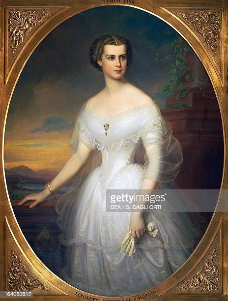 Portrait of Elisabeth of Austria Empress of Austria Painting by Friedrich Durck Trieste Castello Di Miramare
