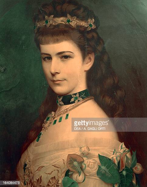 Portrait of Elisabeth of Austria Empress of Austria Rovereto Castello Museo Storico Italiano Della Guerra