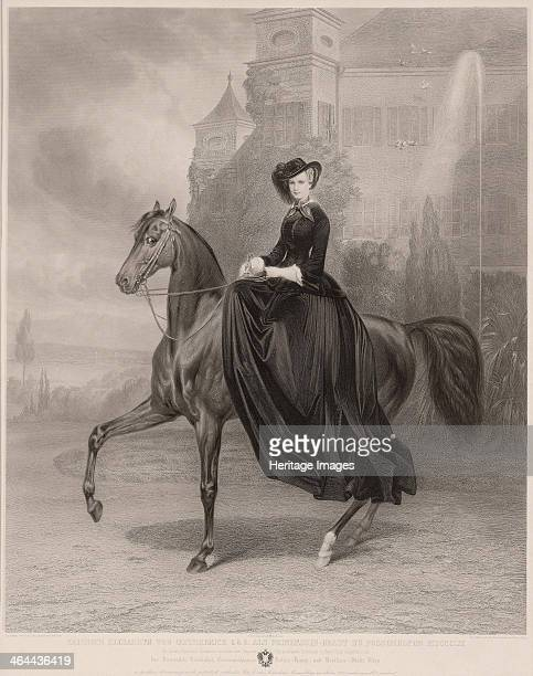 Portrait of Elisabeth of Bavaria on horseback 1853 From a private collection
