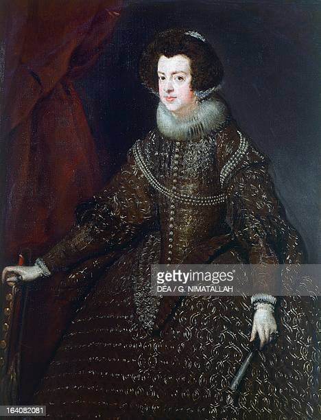 Portrait of Elisabeth of France Queen of Spain as Isabella painting by Diego Velazquez Vienna Kunsthistorisches Museum