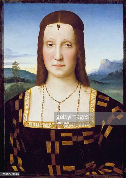 Portrait of Elisabetta Gonzaga by Raphael Painting attributed to Raffaello Sanzio dit Raphael Uffizi Gallery Florence