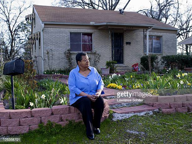 Portrait of Elizabeth Eckford as she sits outside her home Little Rock Arkansas March 6 2011 Eckford was one of the Little Rock Nine who after the...