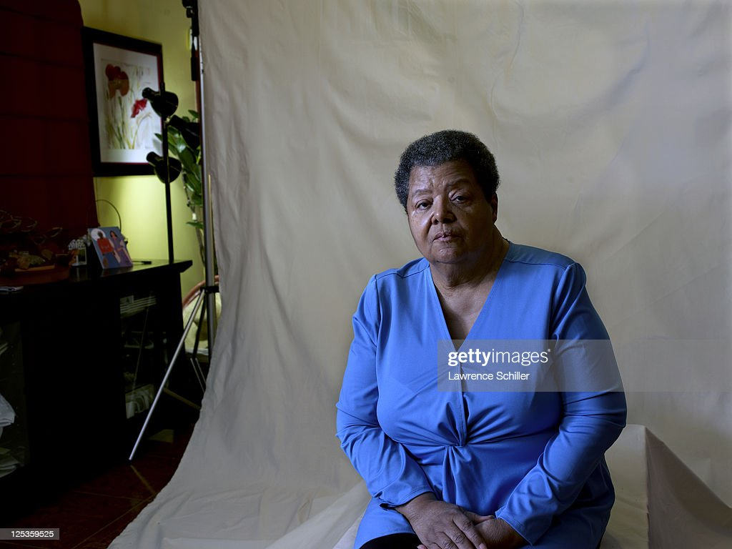 Portrait of Elizabeth Eckford in her home, Little Rock, Arkansas, March 6, 2011. Eckford was one of the Little Rock Nine who, after the landmark 'Brown vs the Board of Education' US Supreme court decision, were the first black students to attend Little Rock Central High School. Eckford inadvertantly became the public face of the Nine after the national (and international) publication of 1957 photograph of her attempting to attend classes in the face of an abusive, anti-integration crowd outside the school.
