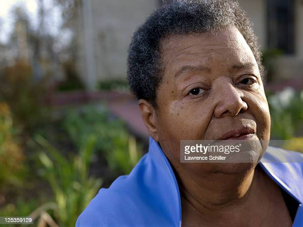 Portrait of Elizabeth Eckford outside her home Little Rock Arkansas March 6 2011 Eckford was one of the Little Rock Nine who after the landmark...