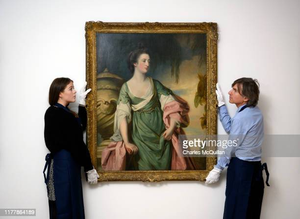 Portrait of Elizabeth Hamilton Campbell Duchess of Argyll and 1st Baroness Hamilton of Hameldon nee Gunning by Francis Cotes goes on view as part of...