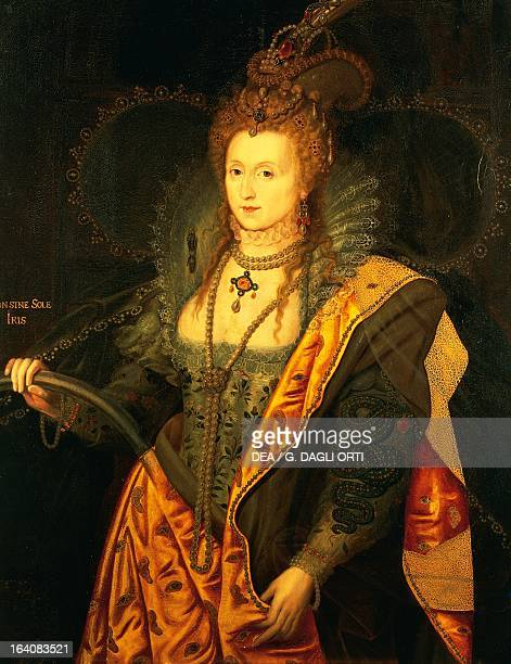 Portrait of Elizabeth I of England Queen of England and Ireland Painting by George Peter Alexander Healy oil on canvas 127x97 cm Versailles Château...