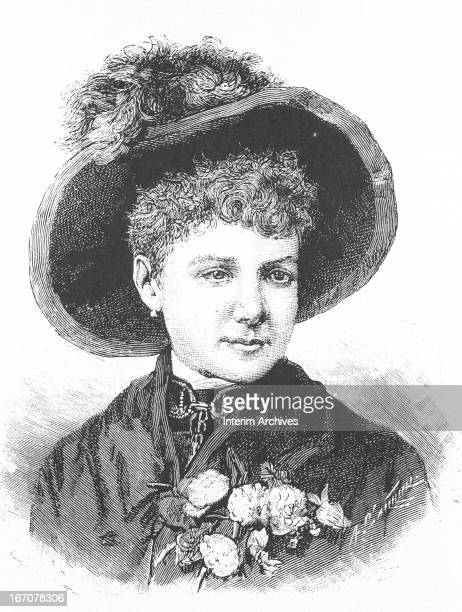 Portrait of Elizabeth Jane Cochran better known as Nellie Bly American journalist famed for her trip around the world 1890