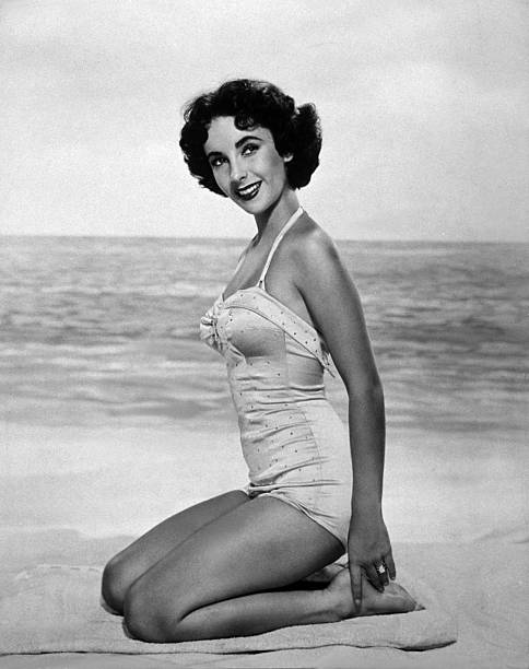 A portrait of Elizabeth Taylor.