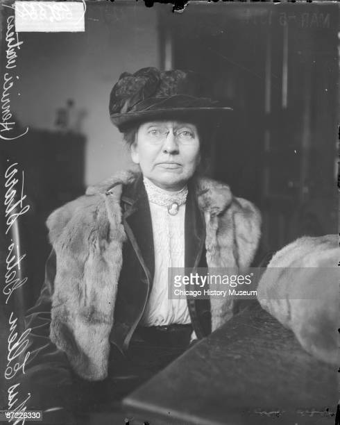 Portrait of Ellen Gates Starr cofounder with Jane Addams of Chicago's Hull House Chicago 1914