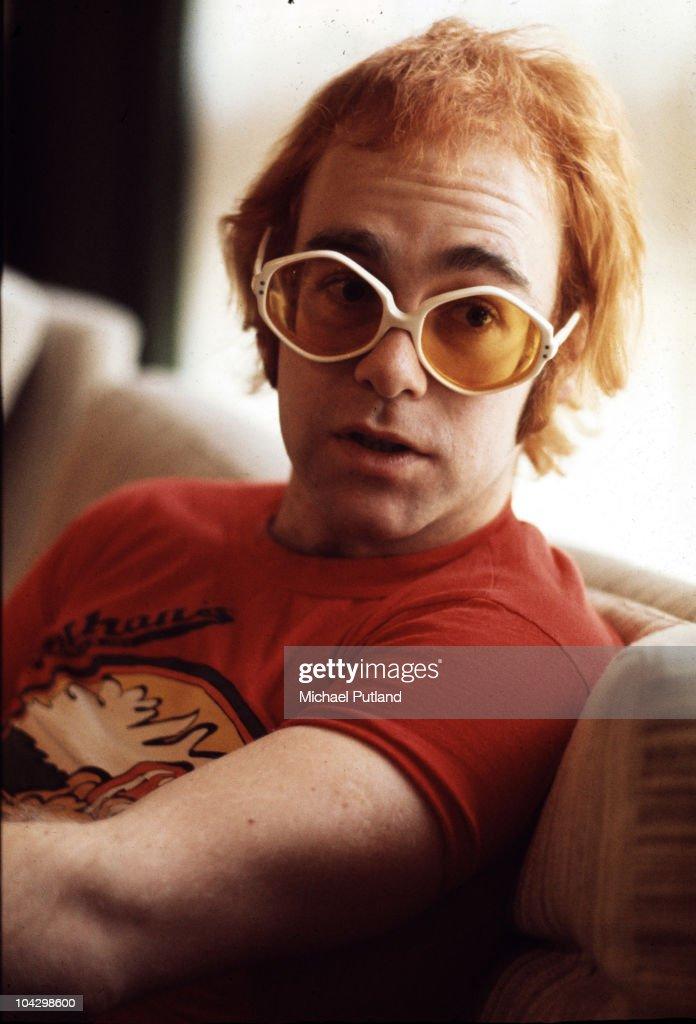 A portrait of Elton John at his home in Windsor, United Kingdom, 1972.