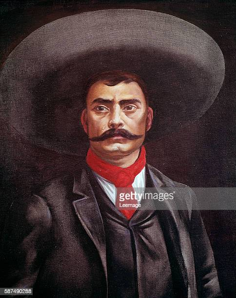 Portrait of Emiliano Zapata, , Mexican revolutionary - Artist Unknown - Museo Nacional de Historia, Castillo de Chapultepec, Mexico
