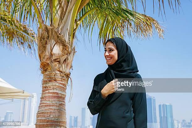 Portrait of Emirati woman smiling