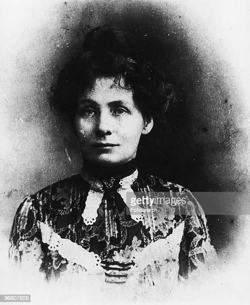Portrait of Emmeline Pankhurst circa 1900s