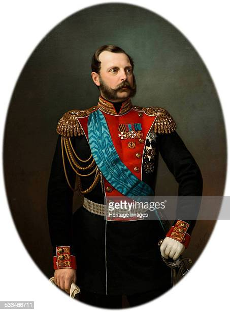 Portrait of Emperor Alexander II 1860s Found in the collection of State History Museum Moscow