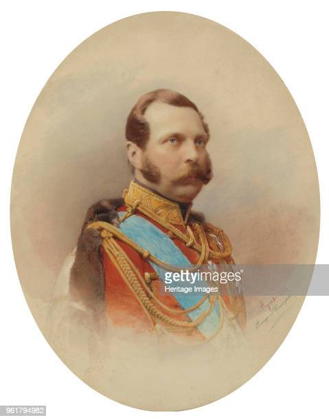 Portrait of Emperor Alexander II 1864 Private Collection