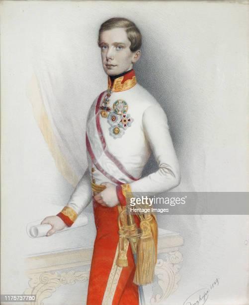 Portrait of Emperor Franz Joseph I of Austria, 1849. Private Collection. Artist Prinzhofer, August .