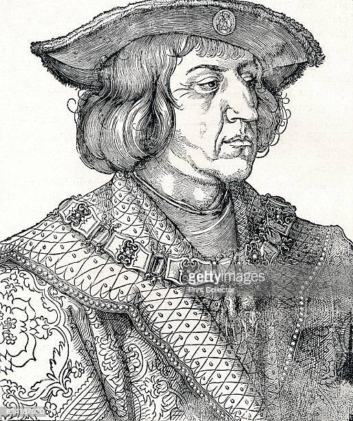 Portrait of Emperor Maximilian I' From The Engravings of Albert Durer by Lionel Cust [Seeley and Co Limited London 1906] Artist Albrecht Durer