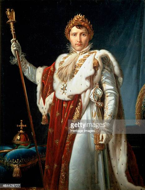 'Portrait of Emperor Napoléon I Bonaparte' c1804 Napoleon enjoyed a meteoric rise through the ranks of the French Revolutionary army In 1799 he led a...