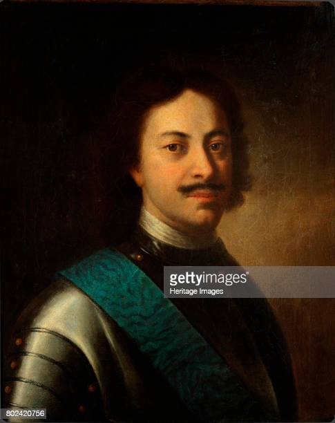Portrait of Emperor Peter I the Great First third of 18th cen Found in the collection of State Tretyakov Gallery Moscow
